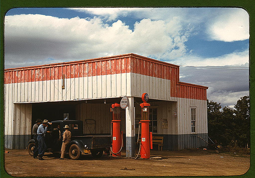 Filling station and garage